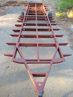 New fabricated Airstream trailer frame